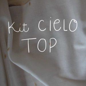 Kit Cielo - Top - Voile de coton Atelier Brunette Sunset Off-White