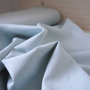 Kaufman - Coton/Lin Essex Yarn Dyed - Aqua - Coupon 45 cm