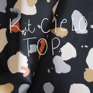 Kit Cielo - Top - Viscose Atelier Brunette Granito Night