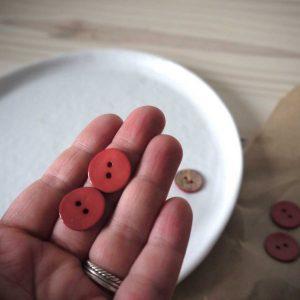 Atelier Brunette - Boutons Glossy - Terracotta 18 mm