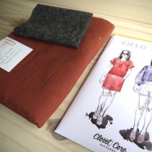 Kit Cielo - Top - Voile de coton Atelier Brunette Sunset Chestnut