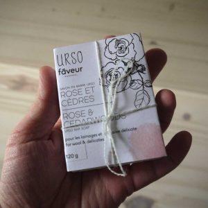Faveur Montréal / Urso - Savon en barre - Rose et Cèdres