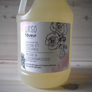 Faveur Montréal / Urso - Savon liquide 4 litres - Rose et Cèdres