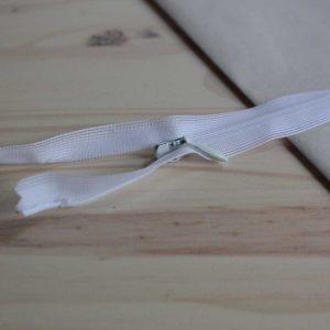 Zip invisible 55 cm - Blanc