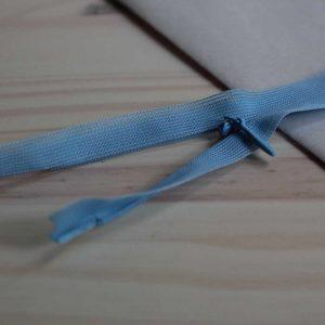 Zip invisible 55 cm - Sky Blue
