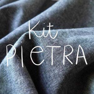 Kit Pietra - Short / Pantalon - Coton-lin Robert Kaufman Graphite
