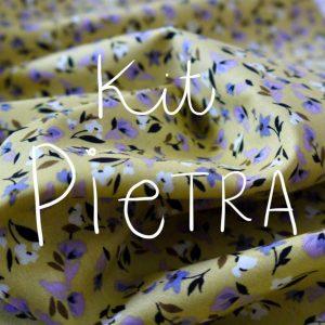 Kit Pietra - Short / Pantalon - Coton Petites Fleurs Moutarde