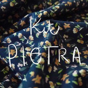 Kit Pietra - Short / Pantalon - Coton Petites Fleurs Nuit
