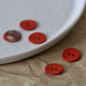 Atelier Brunette - Boutons Glossy - Tangerine 18 mm
