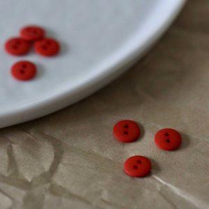 Atelier Brunette - Boutons Classic Matte - Tangerine 10 mm
