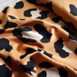 Viscose maxi léopard - Tan