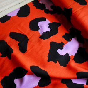 Viscose maxi léopard - Vermillon
