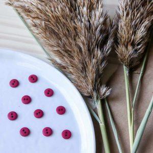 Atelier Brunette - Boutons Classic Matte - Amarante 10 mm