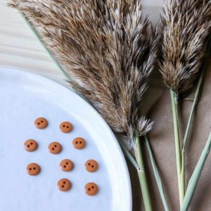 Atelier Brunette - Boutons Classic Shine - Ochre 10 mm