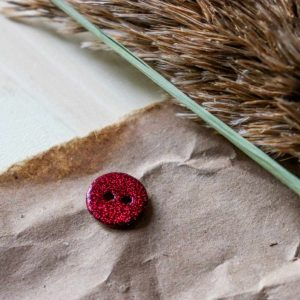 Atelier Brunette - Boutons Glitter - Amarante 12 mm