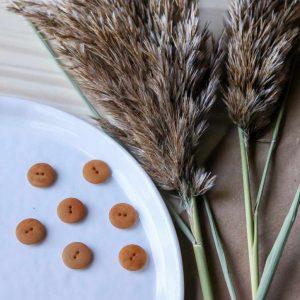 Atelier Brunette - Boutons Palm - Ochre 15 mm