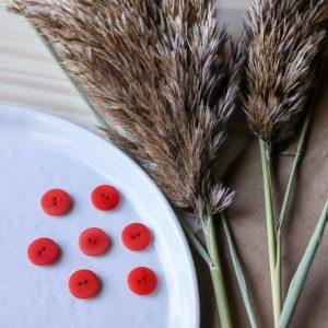 Atelier Brunette - Boutons Palm - Tangerine 15 mm